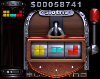 Tetris themed slots game pic