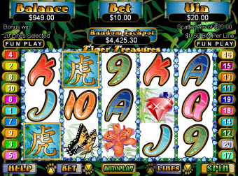Tiger Treasures slot image