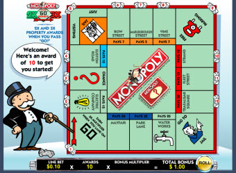 Monopoly slot bonus level