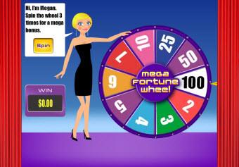 MegaFortune Wheel bonus level pic