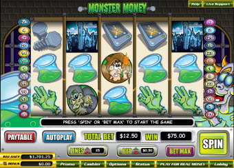 Monster Money slots for Macs