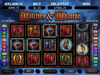 Witches and Wizards Slots for Mac at Bodog